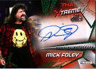TNA Mick Foley 2010 Xtreme GREEN Authentic Autograph Card SN 5 of 25