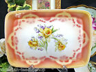 BAVARIA GERMANY STUNNING VANITY TRAY WITH SUPER YELLOW DAFFODIL FLOWERS