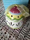 Fitz & Floyd BASKETS & BOWS LIDDED EASTER EGG   ~ NOS ~ New In Box