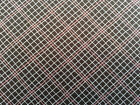 1 yd Giddy by Sandy Gervais Moda Pink & Ivory Diagonal Plaid on Dark Brown