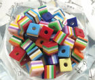 kid gift 10pcs quadrate resin beads Charms For Loom Rubber bracelet Bands#128