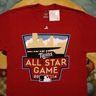 2014 new MLB ALL STAR GAME t-shirt MINNESOTA TWINS Large Majestic Baseball Red