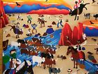 Cattle Drive Print end of bolt cotton fabric BY THE YARD Read Full Listing Info