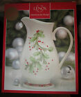 Lenox Holiday Gatherings Plaid Pitcher New in Box 64 OZ