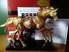 Painted Ponies GOLDEN FEATHER SIGNED # 78/150 COA RETIRED Westland Mint in Box