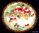 Antique Coronet Limoges POPPIES Cabinet Plate Hand Painted Artist Signed Barbet