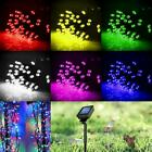 Solar Powered 60 100 200 LED String Fairy Lights Garden Outdoor Xmas Party Lamp