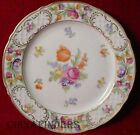 SCHUMANN BAVARIA china EMPRESS DRESDEN FLOWERS Ref1 Luncheon Plate @ 8 1/2