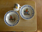 VINTAGE WOOD  & SONS IRONSTONE ABC CHILDRENS DISH SET BOWL/PLATE/CUP NURSERY RYM