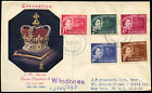 South West Africa 1953 QEII Coronation Registered FDC First Day Cover #C18758A