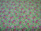3 Yards Quilt Cotton Fabric- Fabric Traditions Patty Reed Org Yel Pink Flowers