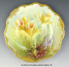 SUPERB c1889-1919 ROYAL DOULTON PORCELAIN DEWSBERRY HANDPAINTED ORCHID PLATE