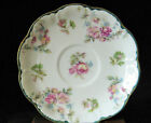 Marked Haviland Limoges France RARE UNIQUE VINTAGE SAUCER Green Scalloped Floral