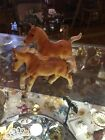 Vintage Ceramic Japan Matched Set Of Horses Stallion 3 Leaf Clover Horse Pair C