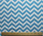 SNUGGLE FLANNEL  TURQUOISE WHITE 2 CHEVRON 100 Cotton NEW BTY