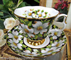 ROYAL ALBERT CHINTZ PROVENICAL SERIES TEA CUP AND SAUCER DOGWOOD
