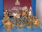 Danbury Mint Gold Christmas Ornament Collection - 1988 - 12 Pieces