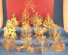 Danbury Mint Gold Christmas Ornament Collection - 1987 - 12 Pieces