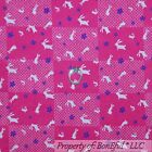 BonEful FABRIC FQ Cotton Quilt Pink White Purple Easter Flower Bunny Block Check