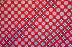 ANTIQUE RED WHITE AND BLUE ANTIQUE QUILT TOP TOPPER 1880 PATRIOTIC AMERICANA