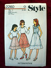 GIRLS TOPS & SKIRT Size 7 STYLE VINTAGE SEWING PATTERN 2260 UNCUT