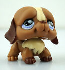 Cute Dog Brown Hasbro Littlest Pet Shop LPS Figures Loose Toys Animals #168
