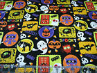 3 Yards Quilt Cotton Fabric - Studio E Slime Time Halloween Patch on Black