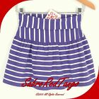NWT HANNA ANDERSSON GOOD STRETCH SCOOTER SKIRT YOGA SKORT PURPLE STRIPE 130 8