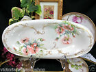 D & C LIMOGES FRANCE HANDPAINTED POPPY FLOWERS TRAY PLATTER