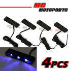 4x Slim Blue LED Rear Fairing Peg Lights For Aprilia RSV 4 Millie RS 125 250