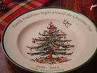 SPODE CHRISTMAS TREE SERVING PLATE/PLATTER 10 1/2