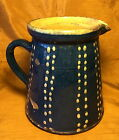 Antique 19th c Hand Made Blue & Yellow 6.75