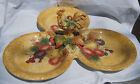 FITZ & FLOYD TUSCAN VILLA ROOSTER FRUIT SERVING PLATTER RELISH TRAY 3 PART