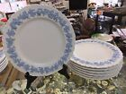 Wedgwood embossed queen's ware Etruia Barlaston 7 ruffled edge plates 10 1/2 in.