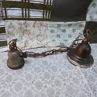 Old Vintage Light Fixture Hang Chain Swag ABC Metal