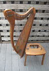 Clark Model A 31-string Irish Harp ca. 1920, with Stand, Excellent Condition