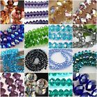 Wholesale Faceted Crystal Rondelle Loose Charm Glass Beads Jewelry more Colors