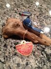 WOODEN BIRD BLUE JAY HAND CARVED AND HAND PAINTED - BIRD 2