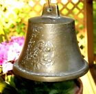 Antique/Vintage Heavy Solid Brass 1.5 lbs Monastery BELL Virgin Mary