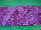 3 Yards Quilt Cotton Fabric - Batik Magenta Wavy Dotted Lines Circles