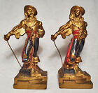 Pirate with Sword/Very Nice circa 1928 Bronze Clad Armor Bronze Antique Bookends