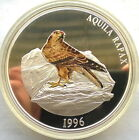 Mongolia 1996 Aquila Rapax 5000 Tugrik Colour 5oz Silver Coin,Proof