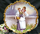UNMARKED LIMOGES FRANCE ARTIST SIGNED DULUIC CHARGER 13 PAINTED COURTING COUPLE
