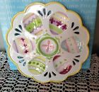 Fitz & Floyd BASKETS & BOWS EASTER  EGG PLATE  ~ NOS ~ New In Box