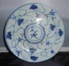 Antique, Hand-painted Blue and White, Porcelain Plate from Qing Dynasty #5v
