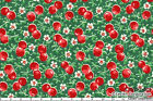 FABRIC 1YD Cherry Green Red OLD NEW COLLECTION 1930s Reproduction LECIEN Japan