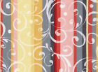 FABRIC 1 Yard REFLECTIONS 22663-coral SCROLL STRIPES Gudrun Erla Red Rooster