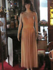 Vtg Negligee Gown Beautiful Vanity Fair Sheer Nylon Gold N Lace 34 1950's