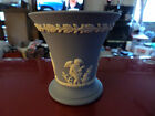 Vintage Wedgwood Raised White Cherub Angels RARE Vase Made in England