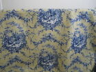 Waverly La Petite Ferme Blue Yellow French Country Toile Rooster Chicken Fabric